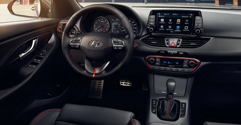 2018 Hyundai Interior with Red Accents
