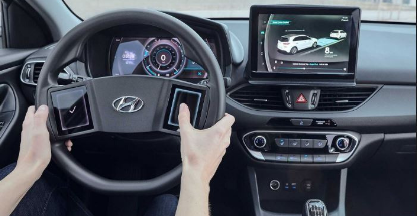 Hyundai Touchscreen Steering Wheel