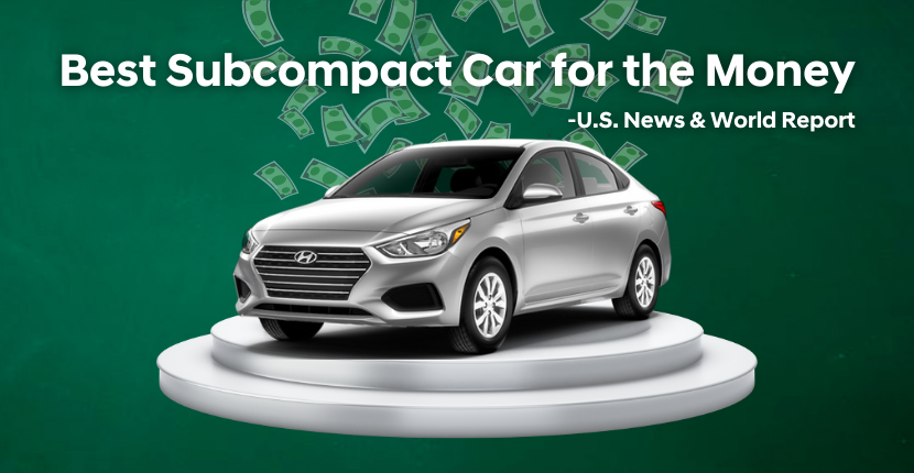 2021 Hyundai Accent Named Best Subcompact Car for the Money by U.S. News & World Report